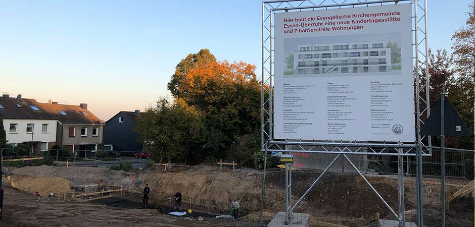 Neue Kindertagesstätte und 7 barrierefreie Wohnungen in Essen-Überruhr