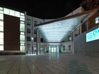 Eingangsüberdachung Marien-Hospital Wesel